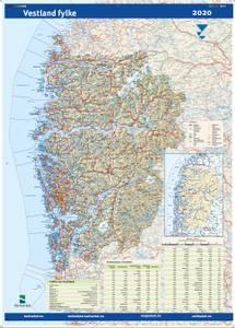 Bilde av Fylkeskart Vestland