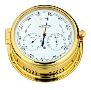 Bilde av Wempe Admiral II: Barometer, termometer og hygrometer - messing